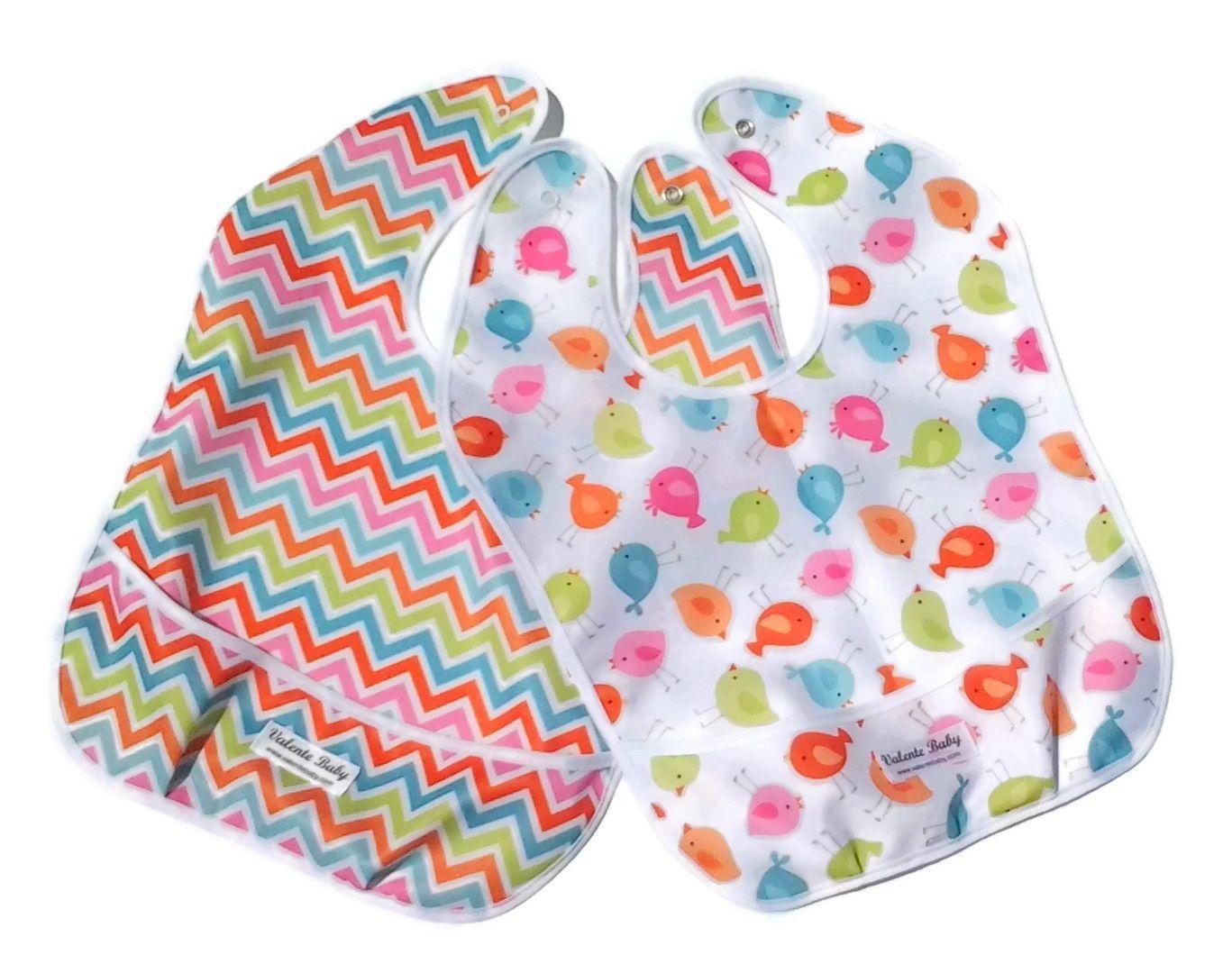 93b1147a778 Chevron Toddler Bib - Bird Toddler Bib - Baby Bib - Bib Set - Water  Resistant Bib - Bib with Pocket - Snap Bib - Feeding VB0017