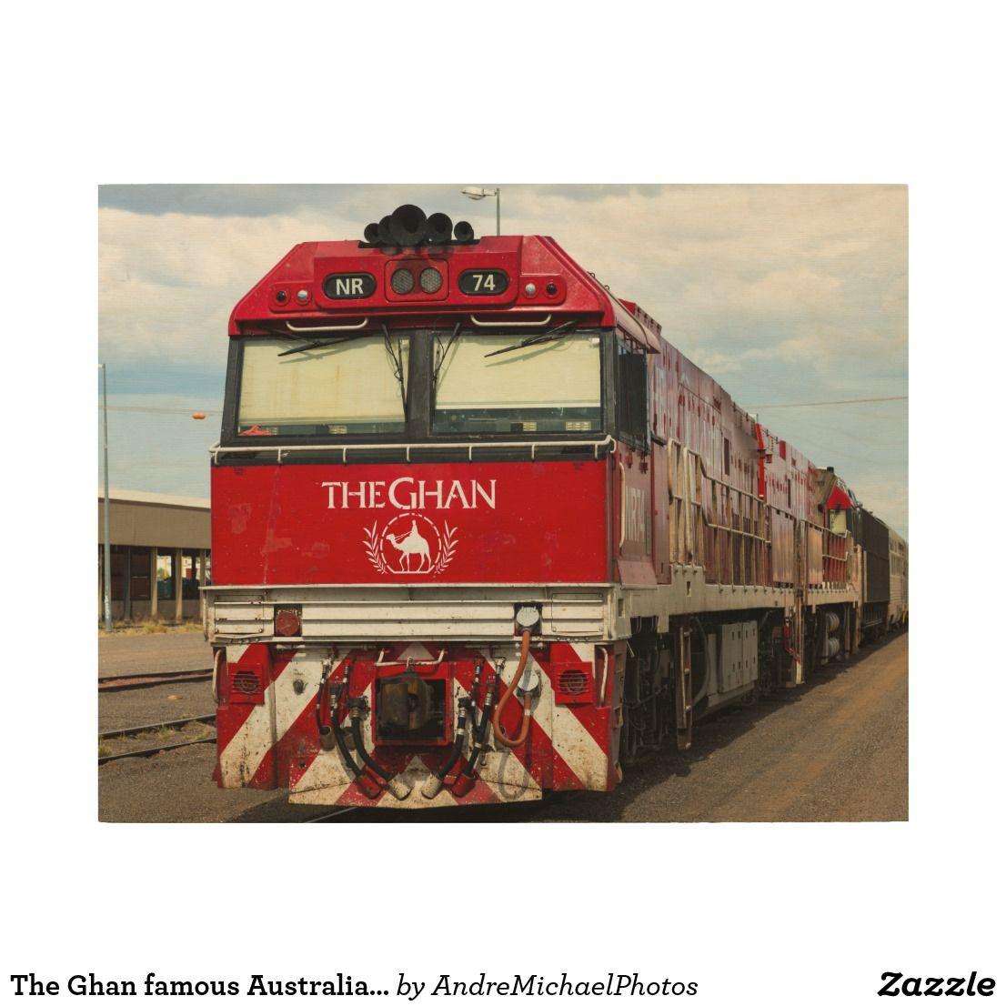 The Ghan Famous Australian Train Wood Wall Art Zazzle Com In 2020 Train Photo On Wood Wood Company