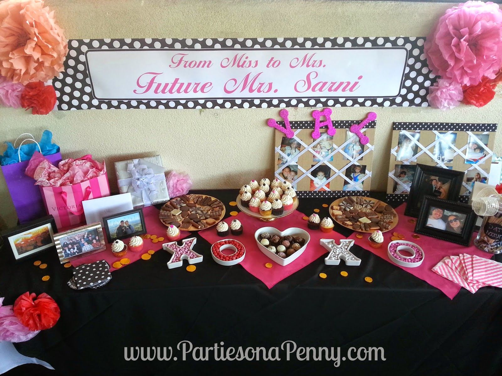 kate spade inspired bridal shower dessert table wwwpartiesonapennycom