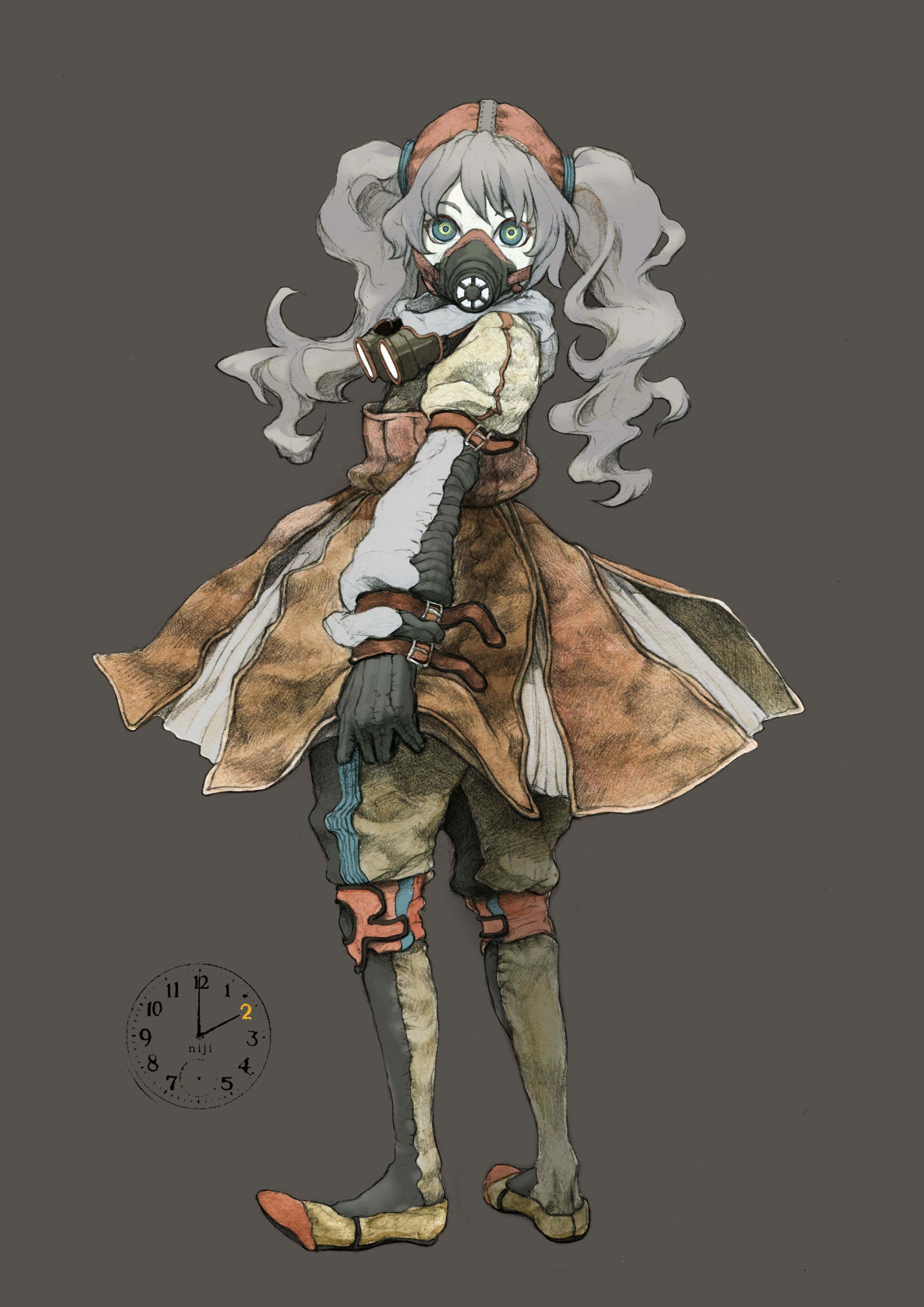 Pin by Cami on Reference Gas mask girl, Anime, Character