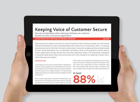 OpinionLab白皮書:保持顧客的安全之聲 - OpinionLab
