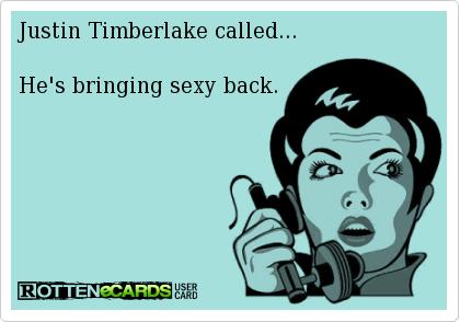 Back bringing by justin sexy timberlake