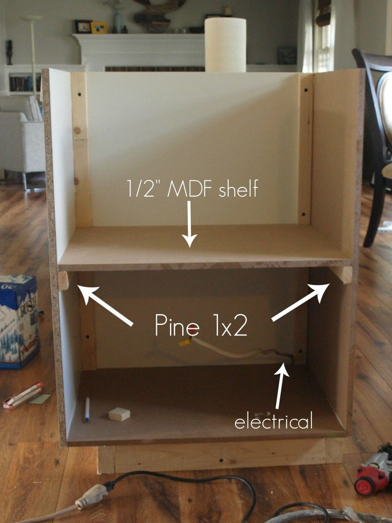 Building A Custom Microwave Cabinet Simply Swider Microwave