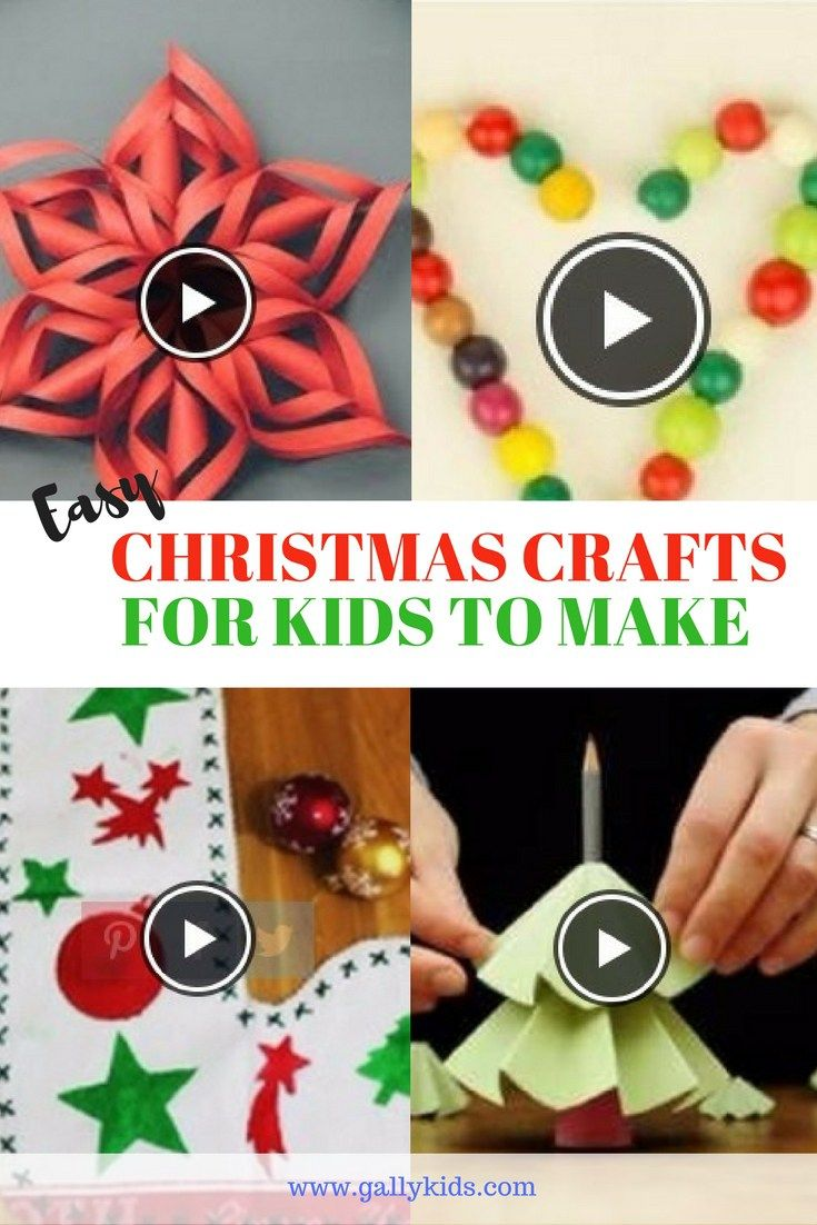 10 Super Easy Christmas Crafts For Kids With Video Instructions