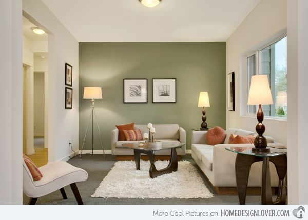 20 Refreshing Green Themed Living Rooms