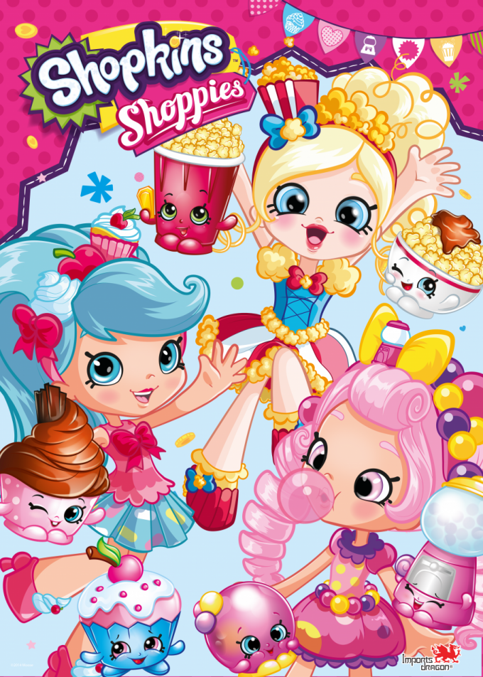 Shoppies Group Poster Fa Id Logo Dolls Shopkins Bday