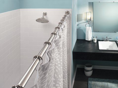 Tension Rod Chrome Tension Rod Tension Shower Rod Shower Rod