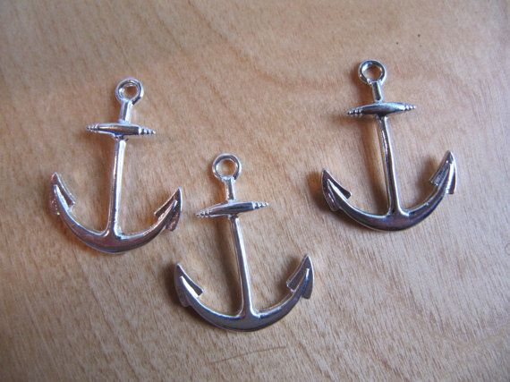 Anchor Charm Connector  Silver  Set of 3 by SuppliesPlus on Etsy, $2.50  https://www.etsy.com/listing/155338104/anchor-charm-connector-silver-set-of-3?ref=sr_gallery_31&ga_order=date_desc&ga_view_type=gallery&ga_ref=fp_recent_more&ga_page=46&ga_search_type=all