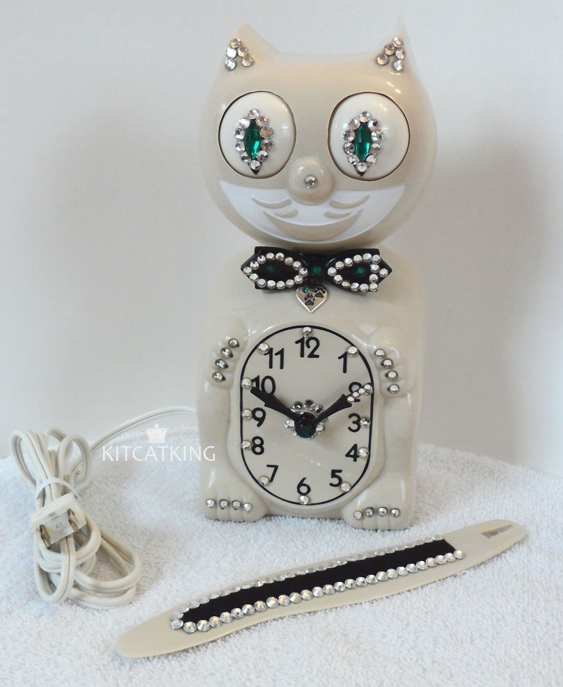 Kit cat clock kat klock 1960s electric jeweled ivory felix moving kit cat clock kat klock 1960s electric jeweled ivory felix moving eyes amipublicfo Gallery