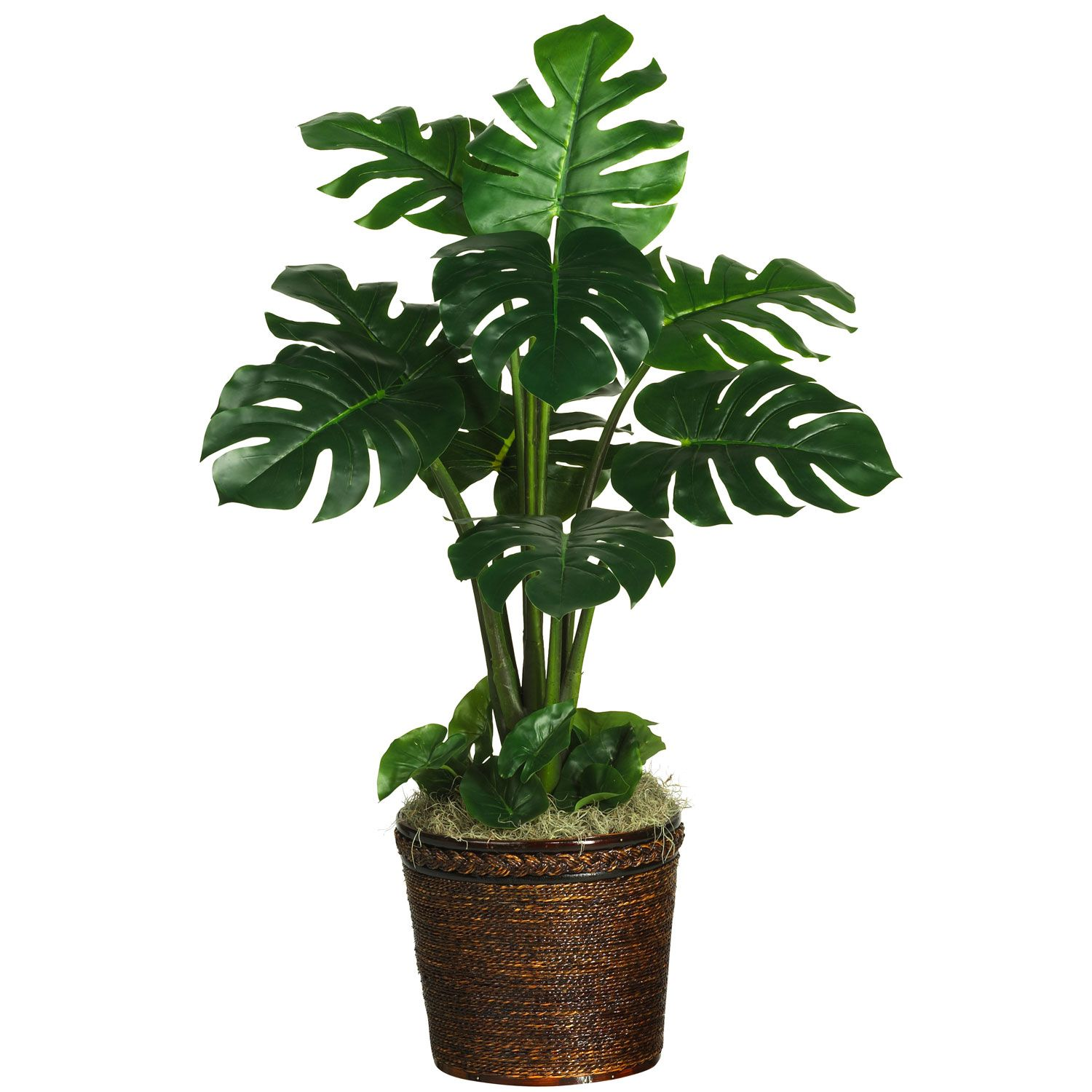 monstera silk plant real touch accent pieces