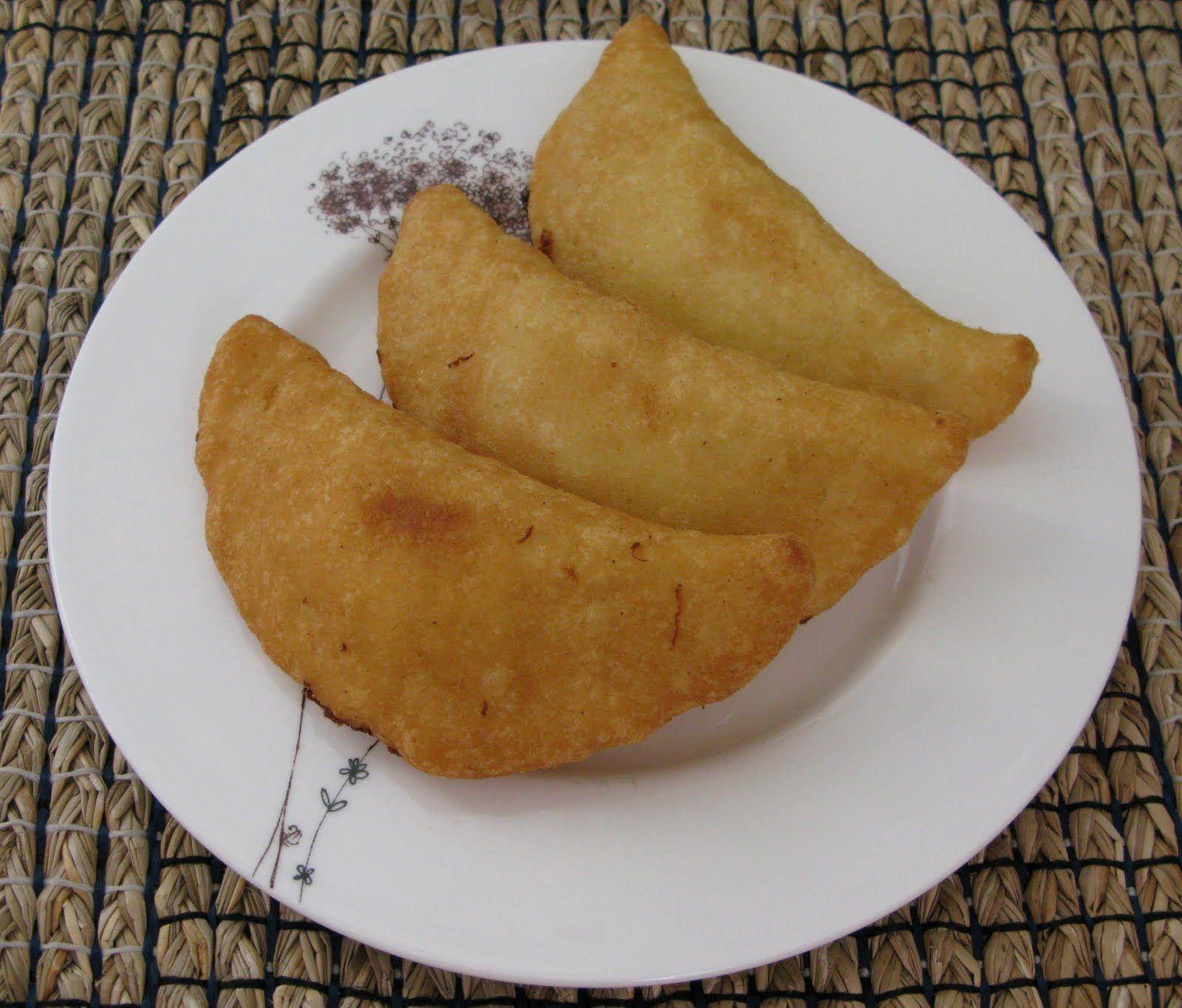 Empanadas Venezolanas Hechas de harina de maiz y se rellenan con