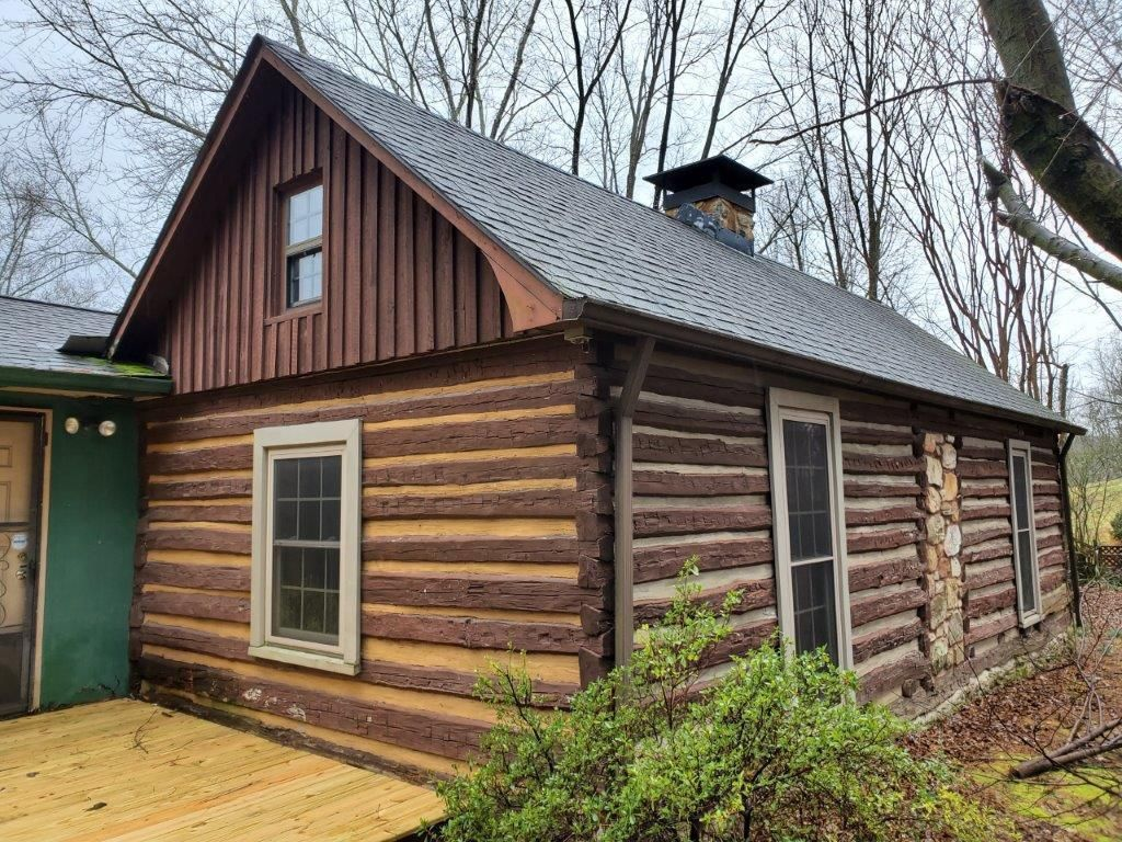 c.1900 TN Log Cabin For Sale on 7.33 Acres 45K Possible