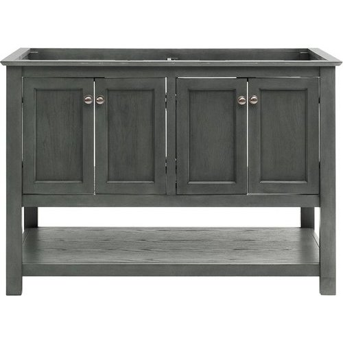 Fresca 48 Inch Manchester Double Sink Vanity Without Top Gray Wood Veneer Fcb2348vg D In 2020 Double Sink Vanity Traditional Bathroom Cabinets Vanity Sink
