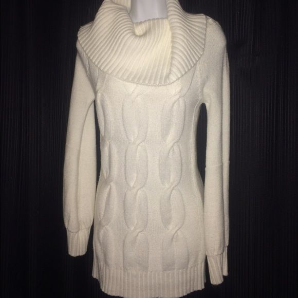 H&M off white cowl neck sweater size medium | Ea, Cowl neck and ...