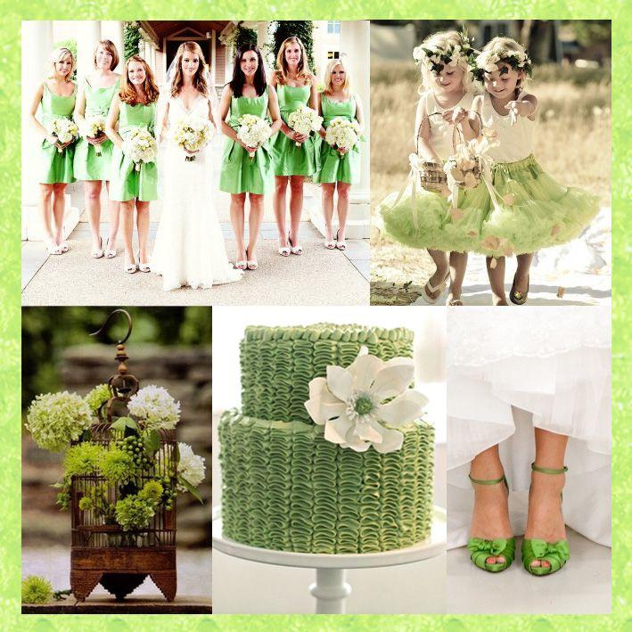 August Wedding: Peridot Green Tones For An August Wedding