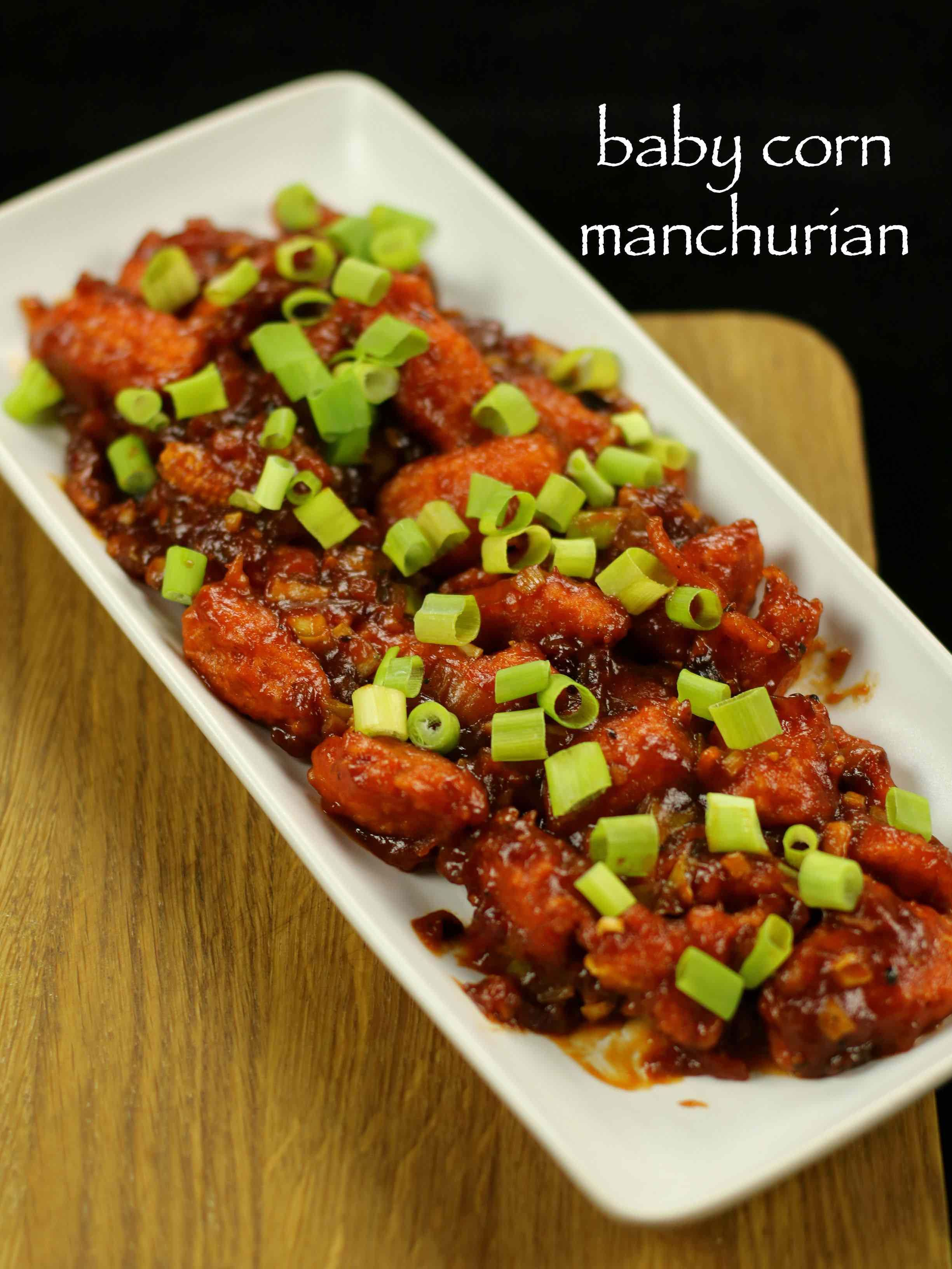 Baby corn manchurian recipe baby corn manchurian dry recipe http baby corn manchurian recipe with step by step photovideo recipe basically an indo chinese street food recipe prepared with manchurian and chilli sauce forumfinder Gallery