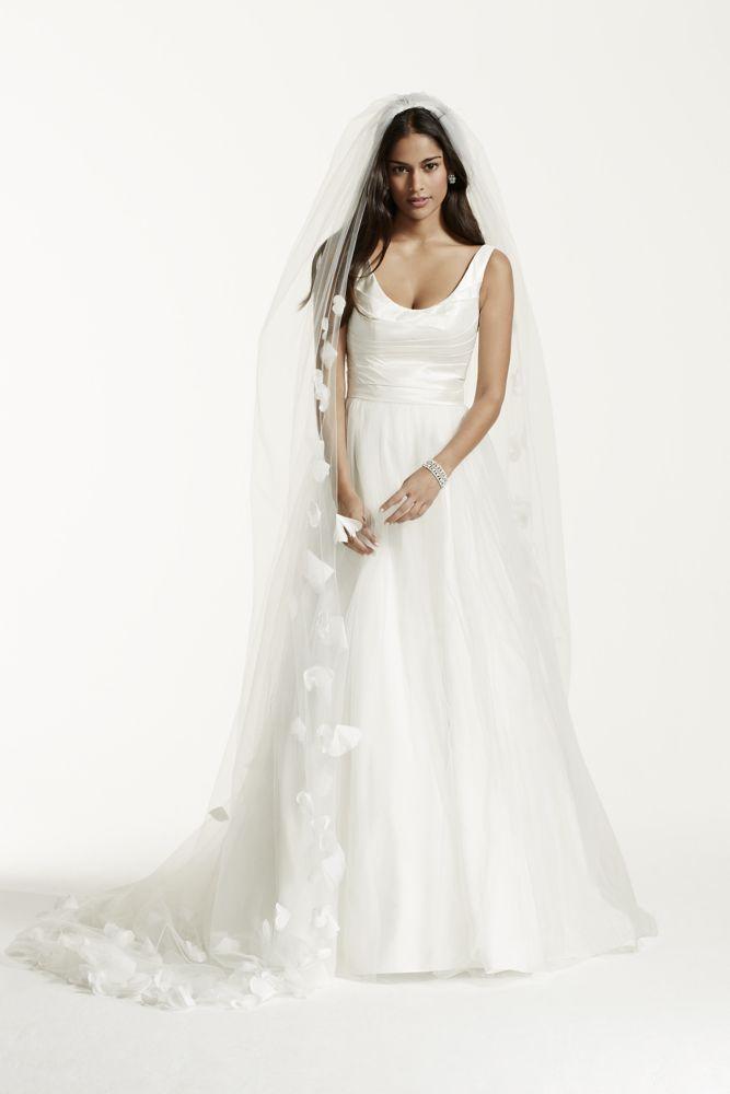 Tank Taffeta Wedding Dress with Scoop Neck - Ivory, 0 | *Wedding ...