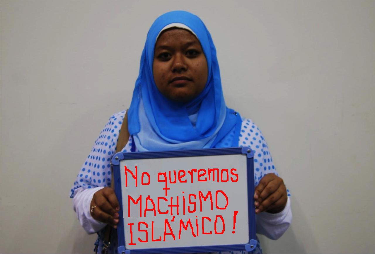 UNA JOVEN DE SUDÁN PROTESTA CONTRA EL HORROROSO MACHISMO.