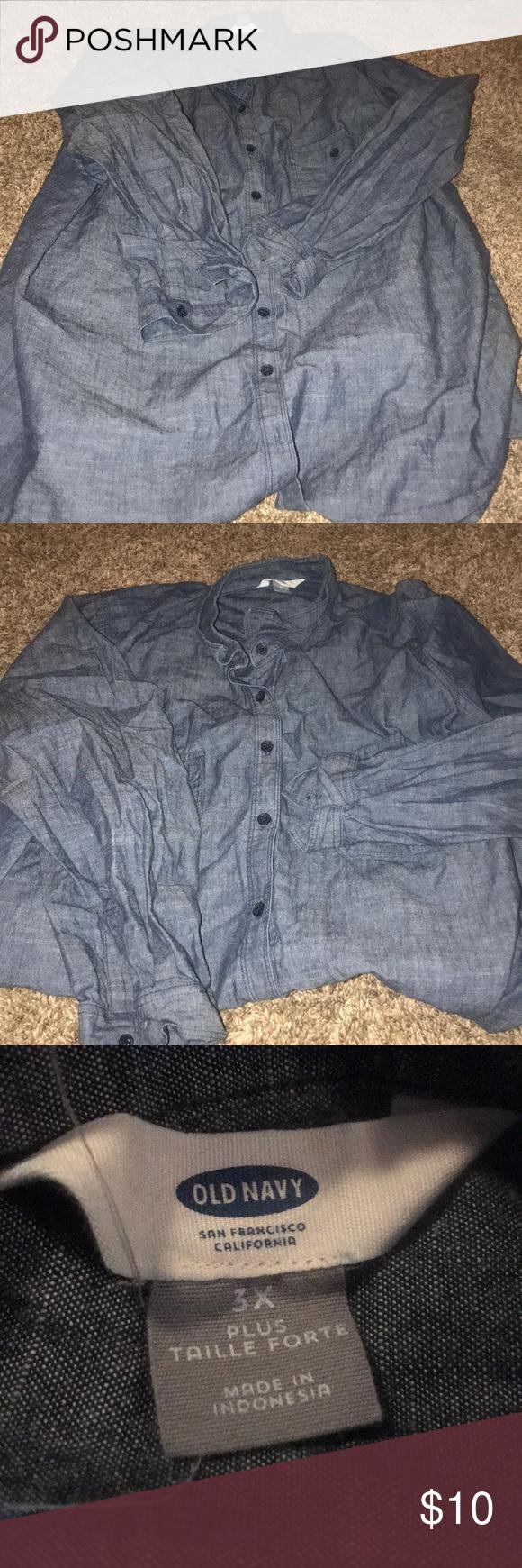 1b1a4bae7 Plus Size Denim Shirt Old Navy - DREAMWORKS