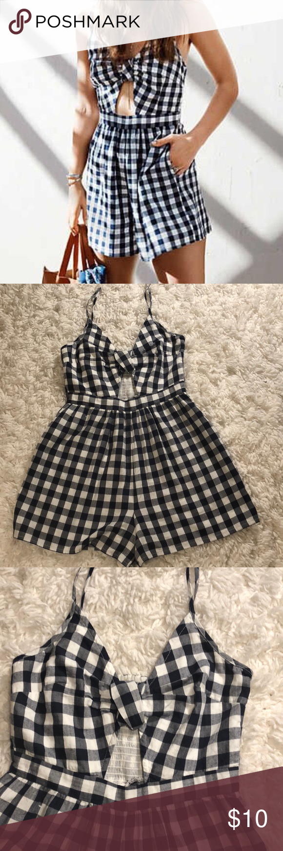 13e70e9b95bb Gingham romper Gingham romper from American eagle worn once no longer fits  me. Super cute! American Eagle Outfitters Other