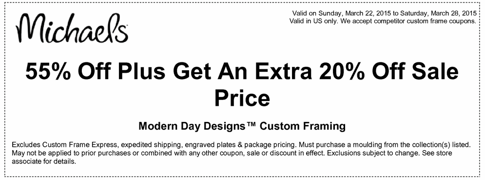 michaels printable coupons off extra off sale price modern day designs custom framing - Michaels Frames Coupons