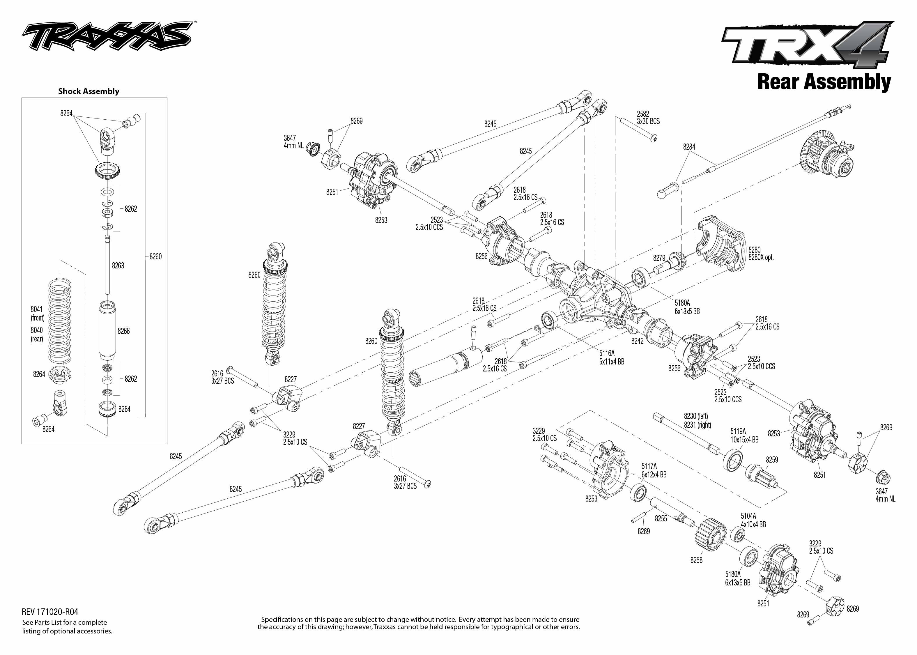 Trx 4 Scale And Trail Crawler 4 Rear Assembly