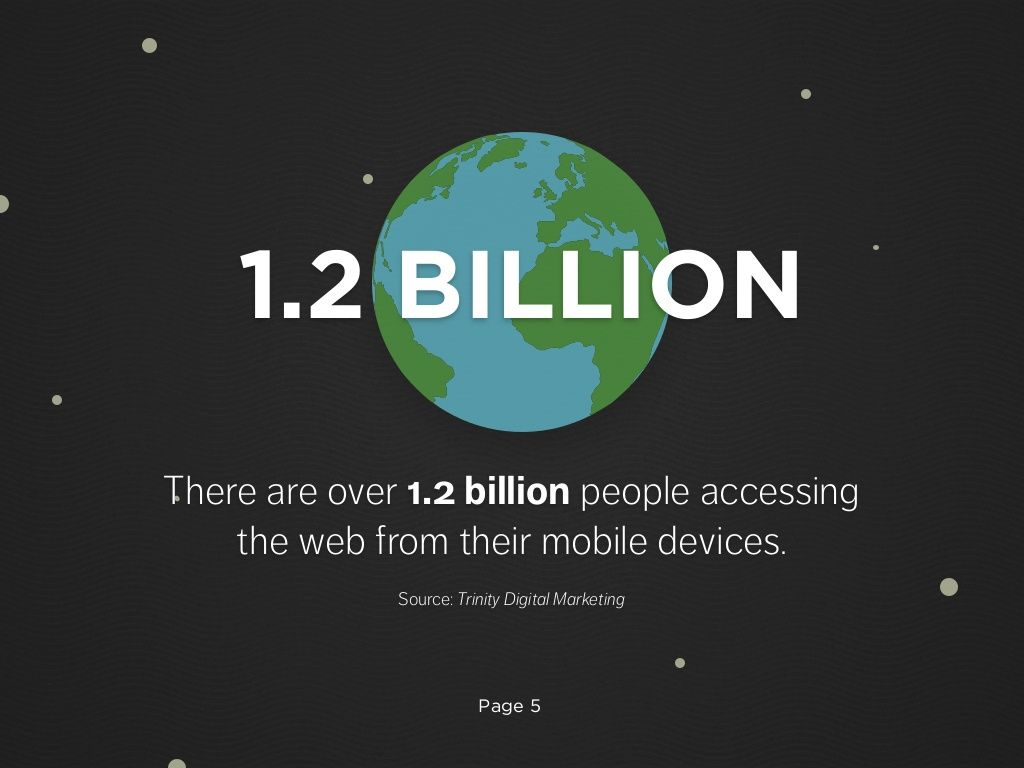 There Are Over 1 2 Billion People Using The Web From Their Mobile