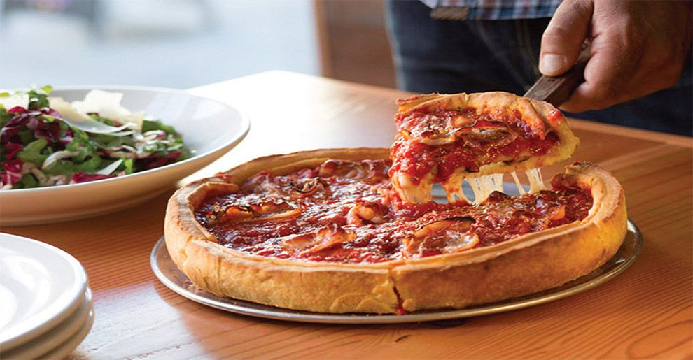 Deep dish pizza in san francisco denver santa barbara