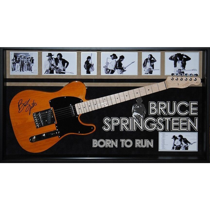 Luxe Bruce Springsteen 'Born to Run' Hand-signed -framed Guitar