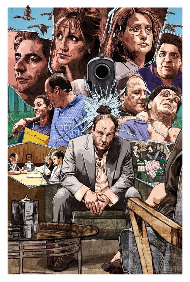 Tony Soprano print Gangster art Mob Mafia HBO TV show THE SOPRANOS Poster