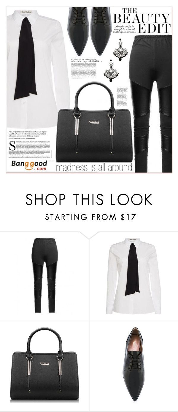 """# I/28 Banggood"" by lucky-1990 ❤ liked on Polyvore featuring Acne Studios, RED Valentino, vintage and BangGood"