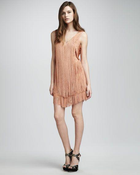Haute Hippie Fringe Flapper Dress | Fashion Forward | Pinterest