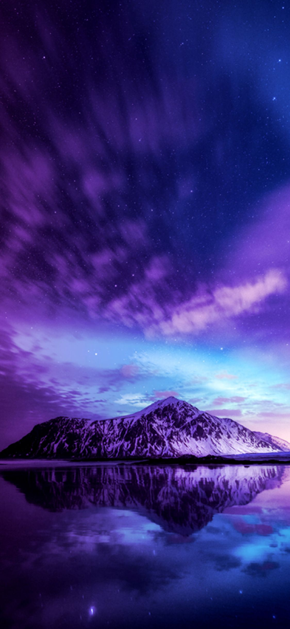 A Mountain In A Purple Sky Fantasy Landscape Nature Photos Nature Pictures