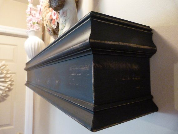 Black Mantle 36l Country Rustic Black Mantle Mantel Shelf Fireplace Wall Hanging Mothers Day Flo Wood Mantels Fireplace Mantel Shelf Hanging Shelf Display