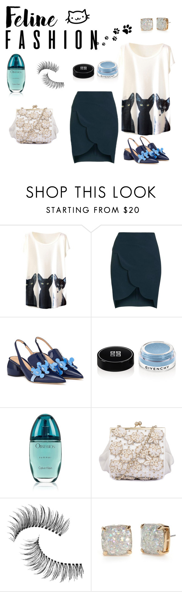 """""""te dare mi amor"""" by floo-carriillo ❤ liked on Polyvore featuring Topshop, Anya Hindmarch, Givenchy, Calvin Klein, Trish McEvoy and Kate Spade"""