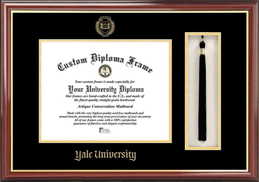 Yale University Diploma Frame - Embossed Seal - Tassel Box ...