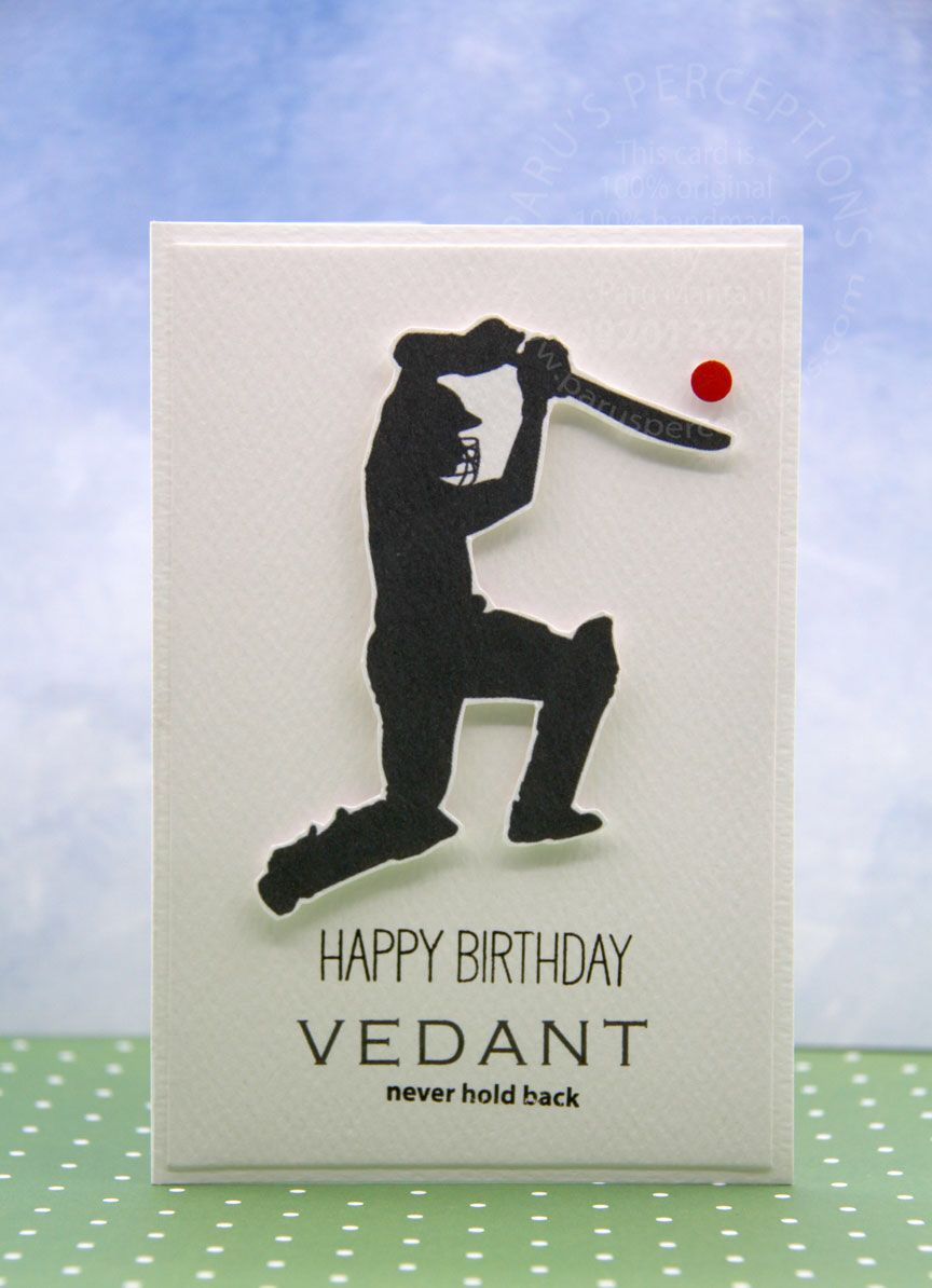 Cricket Silhouette Birthday Cards For Boys Diy Best Friend Gifts Cards Handmade
