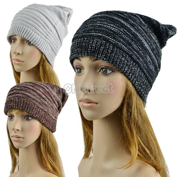 $2.20 Unisex Hip-hop Style Winter Baggy Beanie Knit Crochet Hats ...