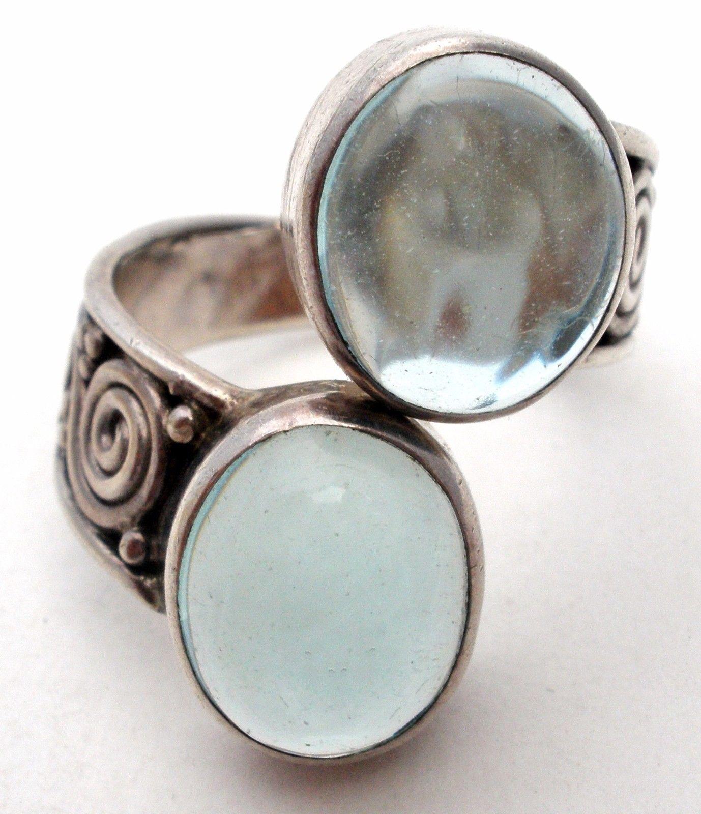Sajen Ring Sterling Silver Size 8 Green Amethyst Gemstone