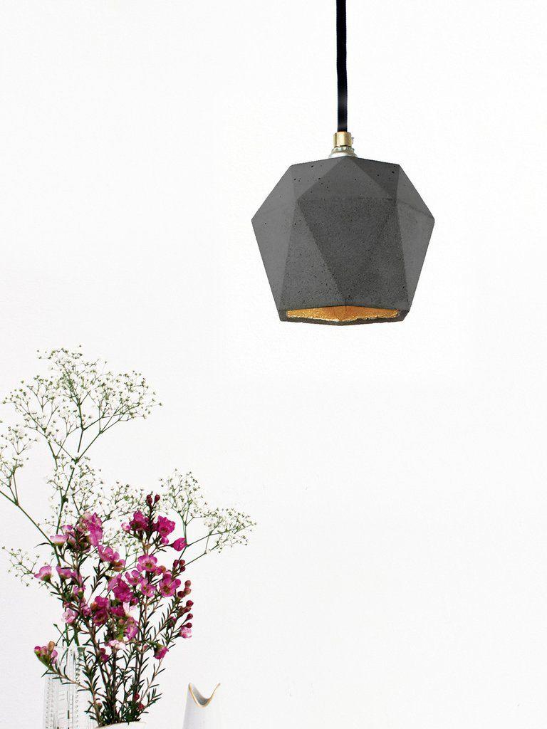 Eitelkeit Hängelampe Küche Referenz Von [t2]dark Hängelampe Trianguliert - Beton Hängelampe Gantlights