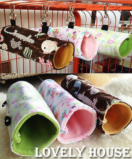 Hammock for Rats Mice Chinchilla Hamster Hanging Bed Fun Tunnel Toy House in Other Small Animal Supplies  eBay
