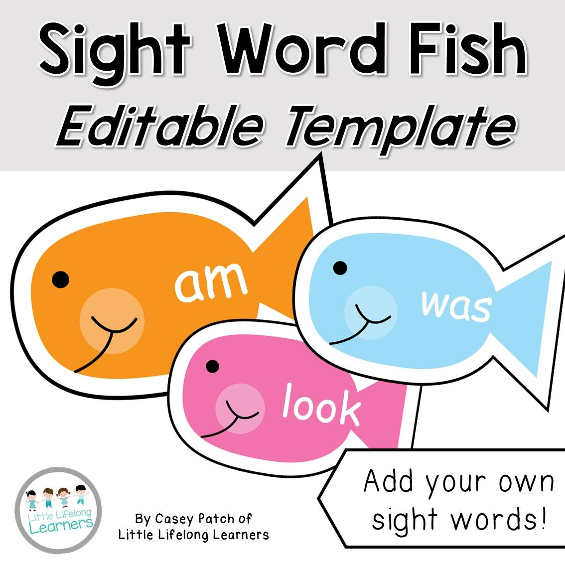 Sight Word Fish Game Editable Sight words, Sight word