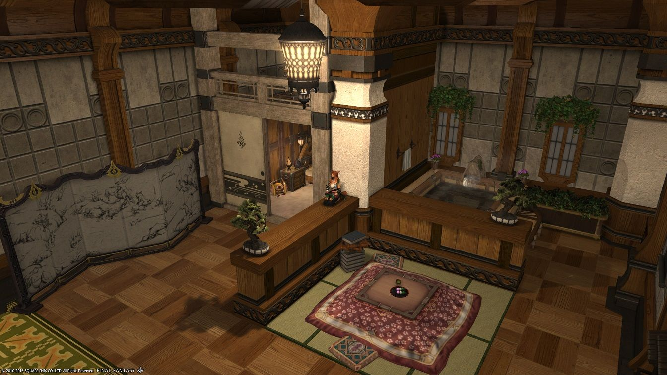A cheap but lovely bath design I made ffxiv FFXIV HOUSING in