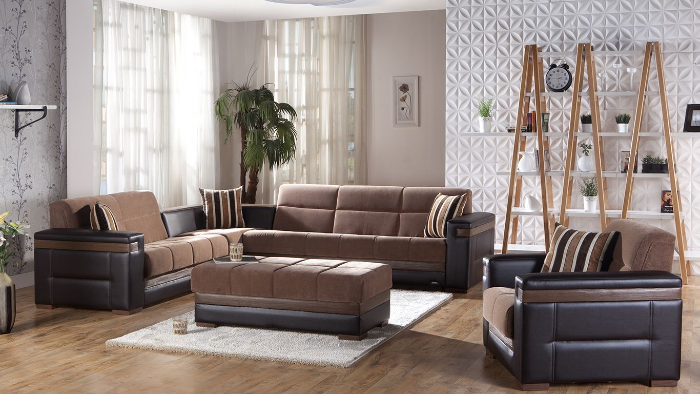 Magnificent Moon 2 Pc Sectional Sofa Bed Set In Troya Brown By Istikbal Beatyapartments Chair Design Images Beatyapartmentscom