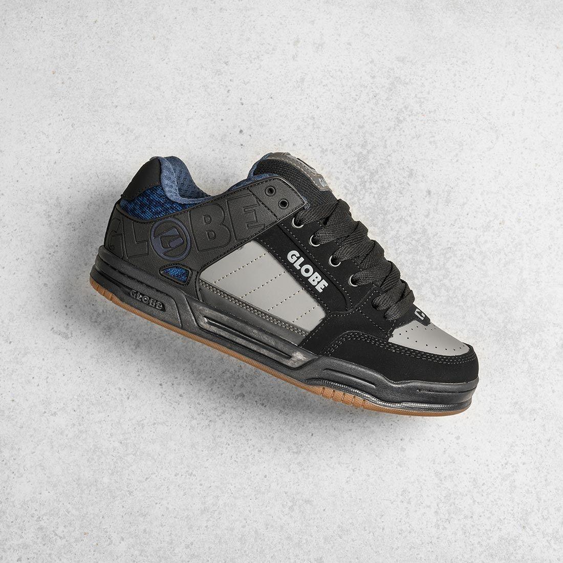 Globe Tilt Shoes - Black / Blue Knit