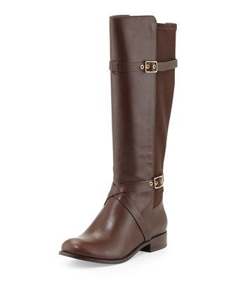 Dorian Leather Stretch-Back Boot, Chestnut by Cole Haan at Neiman Marcus.