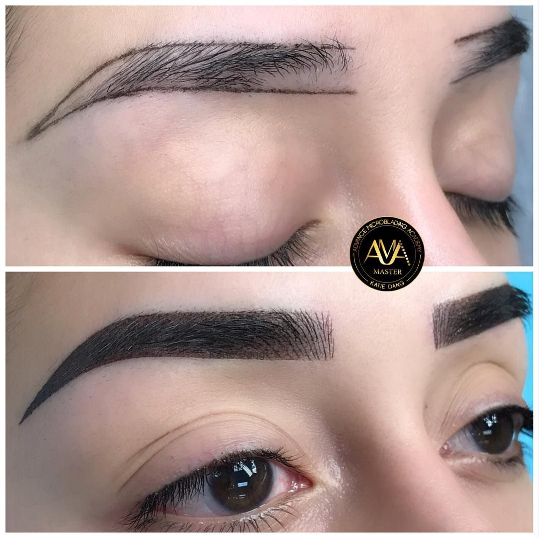 Katie S Signature Brow Hairstrokes Shading Combined Next Class Chicago Santaana Hawaii Sanjose Nyc Microblading Beauty And Personal Care Ombre Eyebrows