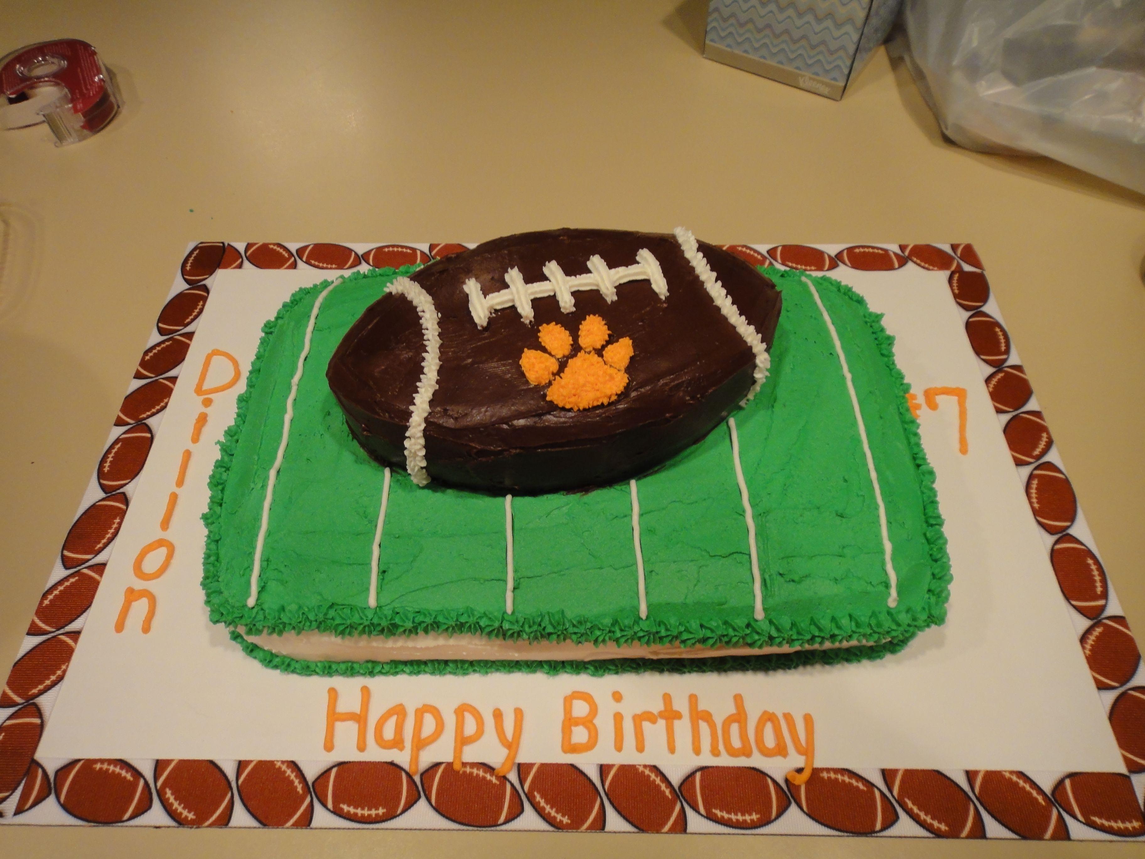 """Wildcat Football"" - Dillon's 7th birthday cake"