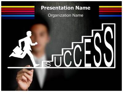 climbing success powerpoint template is one of the best powerpoint, Presentation templates