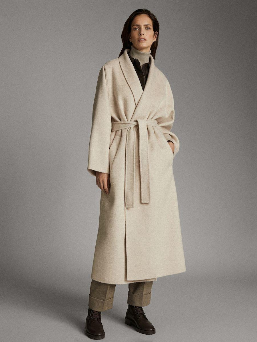 Abrigo Handmade Melange Lana Mujer Massimo Dutti España Abrigos Abrigos De Mujer Abrigos De Lana